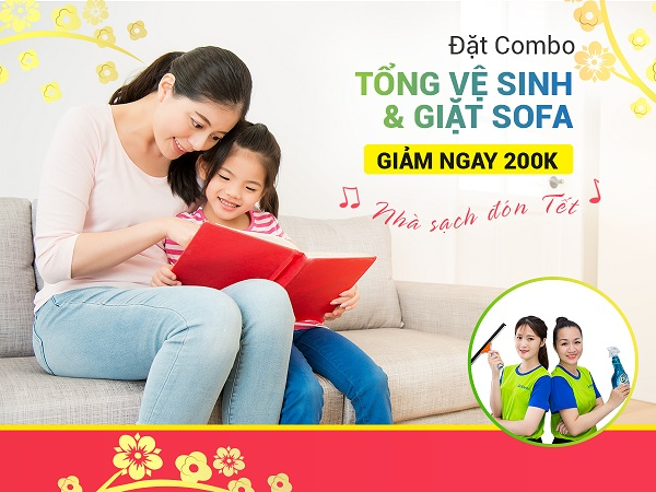 TẶNG NGAY 200K CHO COMBO TỔNG VỆ SINH & GIẶT SOFA