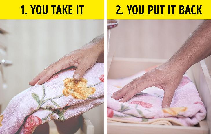 Một trong những mẹo dọn dẹp đơn giản nhất là để đồ vật lại vị trí cũ mỗi khi dùng xong